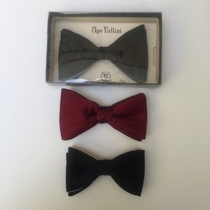 Ugo Vallini vintage bow tie plus two more